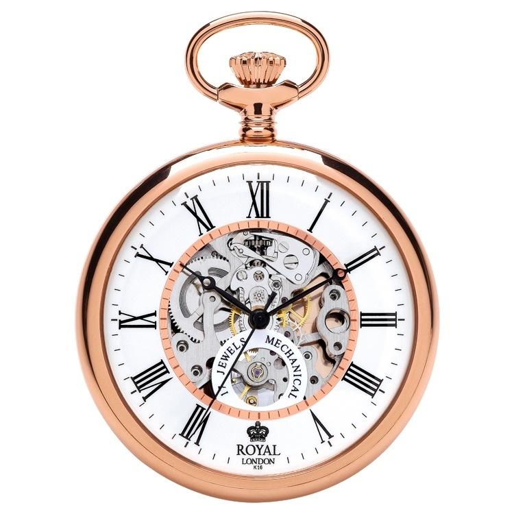 Royal London Skelet Zakhorloge Open Heart Rosé 50 mm
