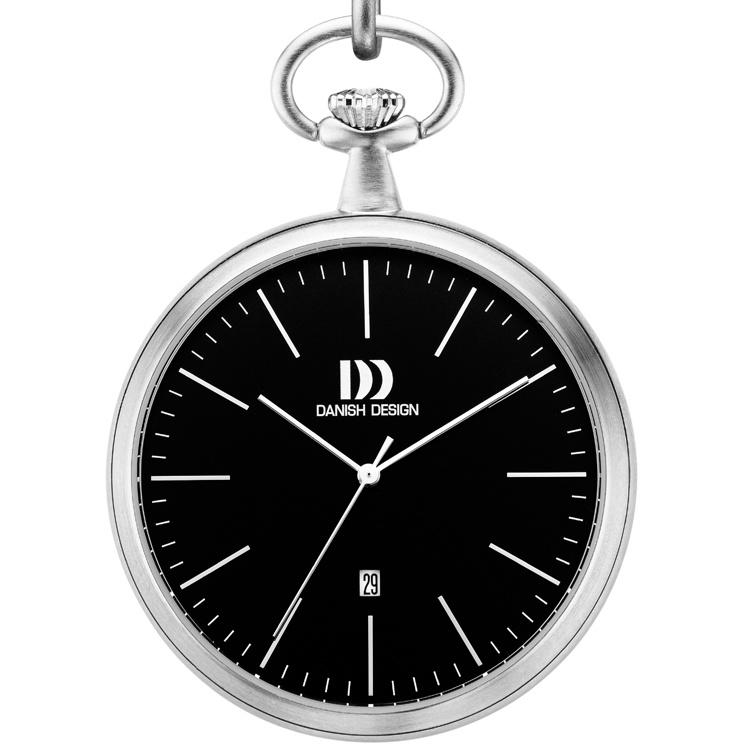 Danish Design Stalen Zakhorloge Datum Zwart 47mm - IQ13Q1076