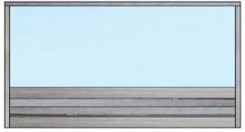 Spat-scherm gemakkelijk tussen banken te plaatsen (Flame Resistant mogelijk)