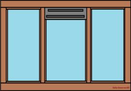 3-vaks raamkozijn