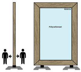 Spat-werkscherm hardhout polycarbonaatplaat