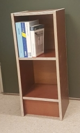 Plywood mini boekenkast gemaakt van Light Brown betonplex ***Model 19
