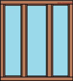 3-vaks raamkozijn verticaal