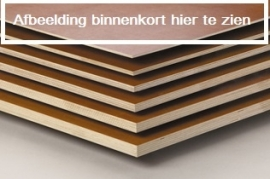 Plywood staande kast smal links draaiend gemaakt van Light Brown betonplex ***Model 17