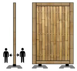 spat-werkscherm bamboo
