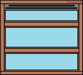 3-vaks raamkozijn horizontaal
