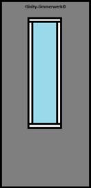 Alustabil deur met smal glas