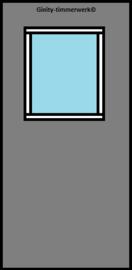 Alustabil deur met klein glas