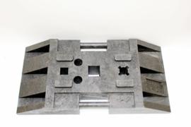 Spat-werkscherm uitvoering Aluminium/Polycarbonaat kanaalplaat