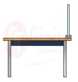 Tafel spat-werkscherm polycarbonaat (exclusief bureau/tafel)