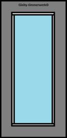 Alustabil deur  met groot glas
