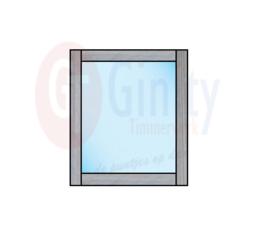 Spat-scherm t.b.v. leuning steigerhouten banken (Flame Resistant mogelijk)