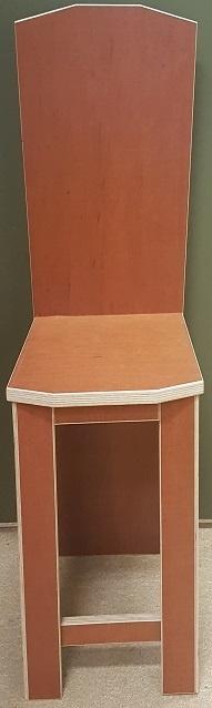 Plywood  stoel gemaakt van  Light Brown betonplex ***Model 2