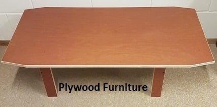 Plywood salontafel gemaakt van 18mm dik Light Brown betonplex ***Model 6