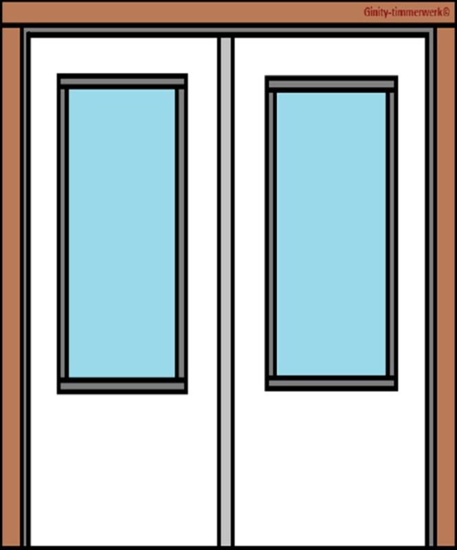 Deurkozijn met openslaande deuren
