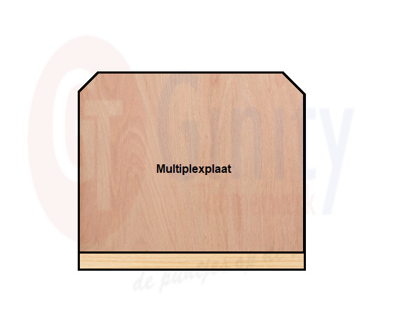 Tafel spat-werkscherm multiplex