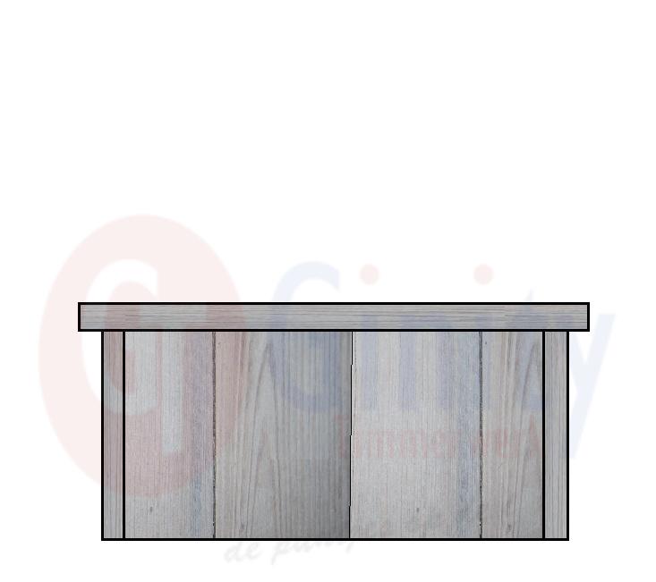 Steigerhouten tafel keuze met of zonder glasplaat(Flame Resistant mogelijk)