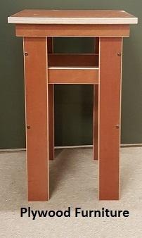 Plywood kruk gemaakt van 18mm dik Light Brown betonplex ***Model 4
