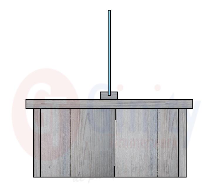 Steigerhouten tafel met spat-scherm (Flame Resistant mogelijk)