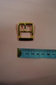 goudkleurige gesp 20mm.