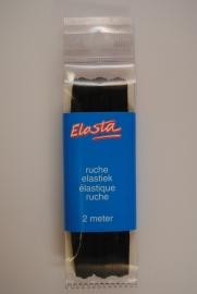 Ruche-elastiek zwart