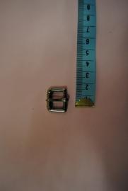 Gesp zilverkleurig 12mm.extra zwaar