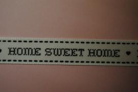 Home Sweet Home lint (wit-zwart)