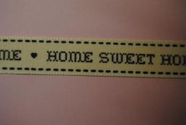 Home Sweet Home lint (ecru-zwart)