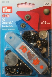 Prym vernietbare drukknoop 12mm.brons