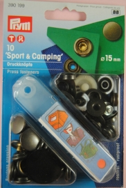 Prym Sport-Camping 15mm. oud -messing