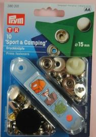 Prym Sport-Camping 15mm. zilver