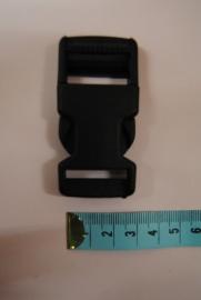 klikgesp  25mm zwart