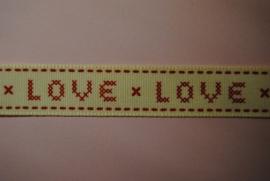 Love lint ( ecru-rood)
