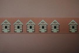 Huisjes lint (roze)