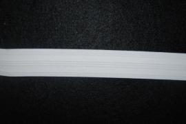 Pyama elastiek wit 25mm.