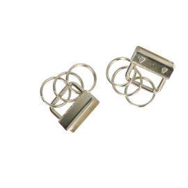 Klem met 3 sleutelringen 26mm