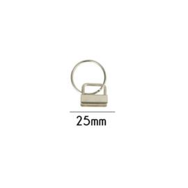 Klem met sleutelhanger 25mm