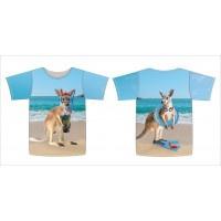 Kangoeroe op het strand (stenzo)