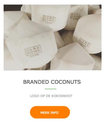 Naam of logo op kokosnoot