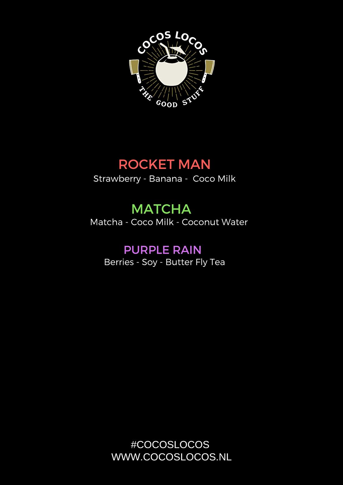 Voorbeeld smoothie menu mobiele smoothiebar