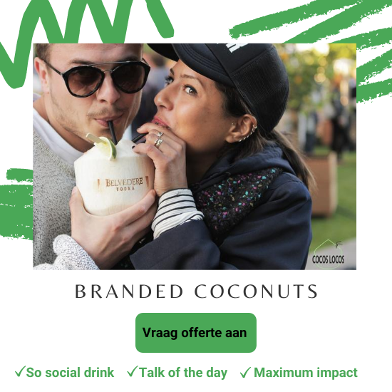 Kokosnoten met logo