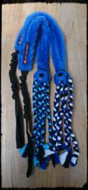 Bal met vlechtjes, pluche en bungee blauw