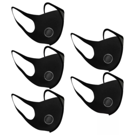 Mondkapje foam met lucht filter 5 stuks