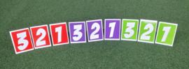 Nummersets kunstof wit
