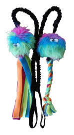 Rainbow fluffy met vlecht of slierten 1.25m