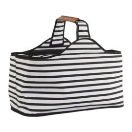 Koeltas - picknicktas - zwart wit gestreept