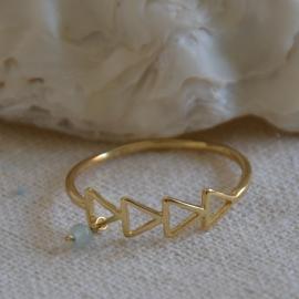 Treasure Rookie  ring - Golden Trail - goud /blauw