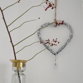 Hartvormige kerstkrans