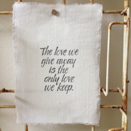 Afro Dutch Paperstone kaart - The love we give away