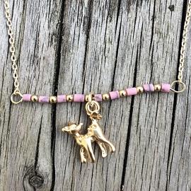 Treasure Rookie ketting - Oh my deer - roze